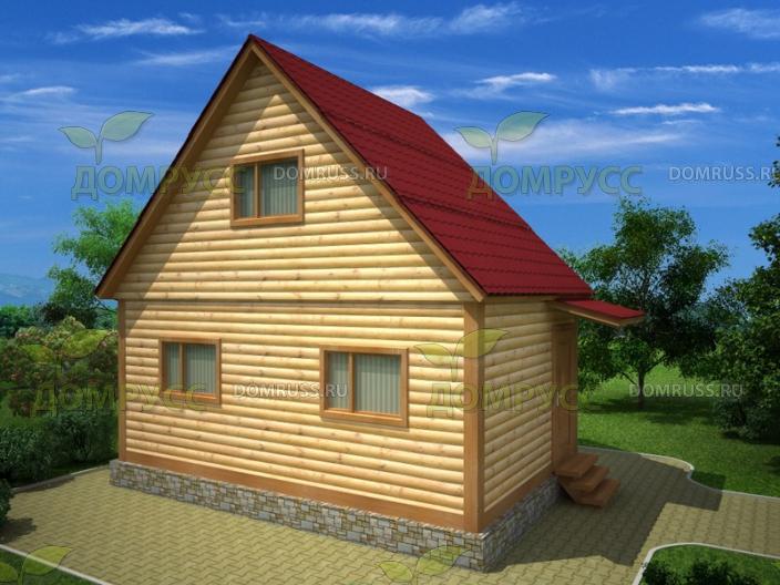 двускатная крыша для дома из бруса