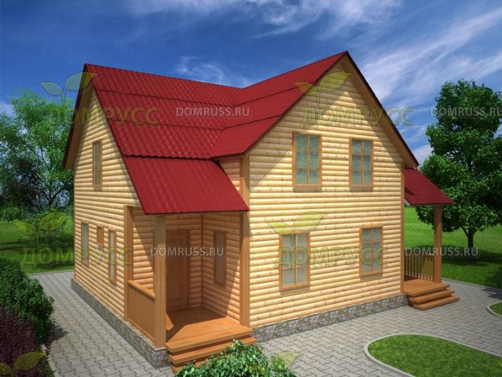 Дом из бруса на две семьи 8х10м s 160 м 2