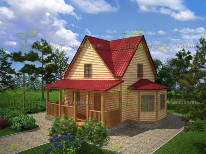 готовые проекты домов из бруса