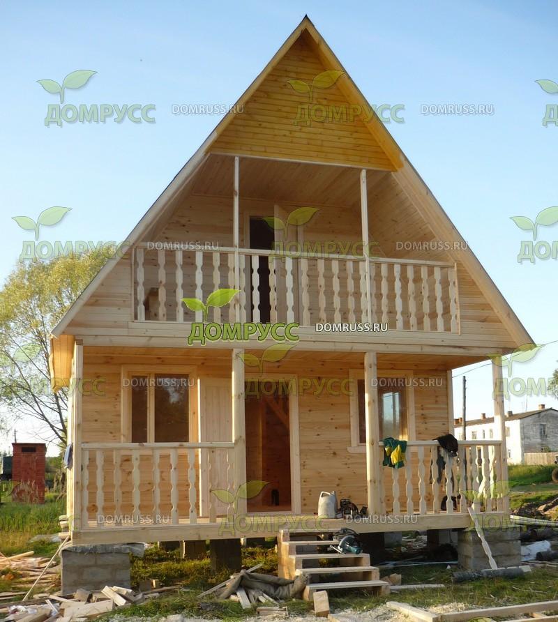 Дом 6х6 с балконом и террасой строительство на lalapics.