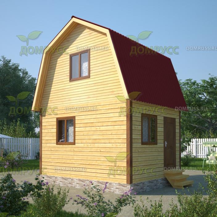 Проект дома из бруса 4х5