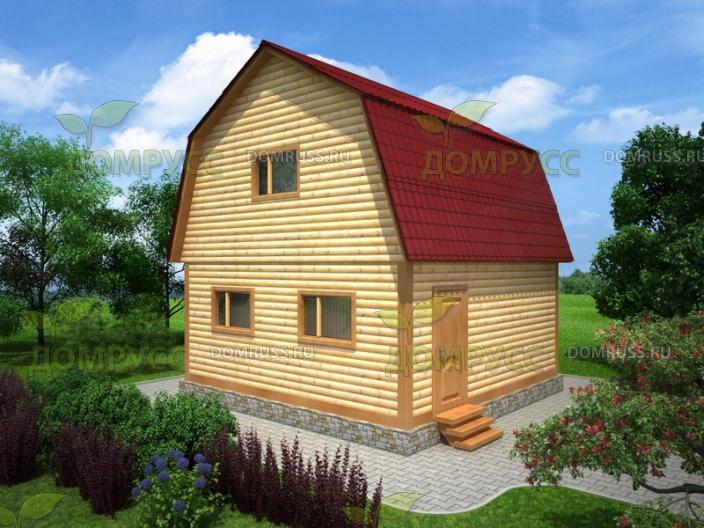 ломаная крыша для дома из бруса