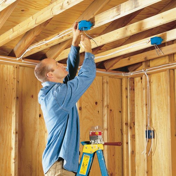 Электромонтаж в деревянном доме своими руками схема