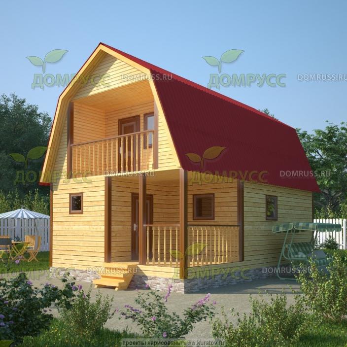 дом-баня из бруса 6х8