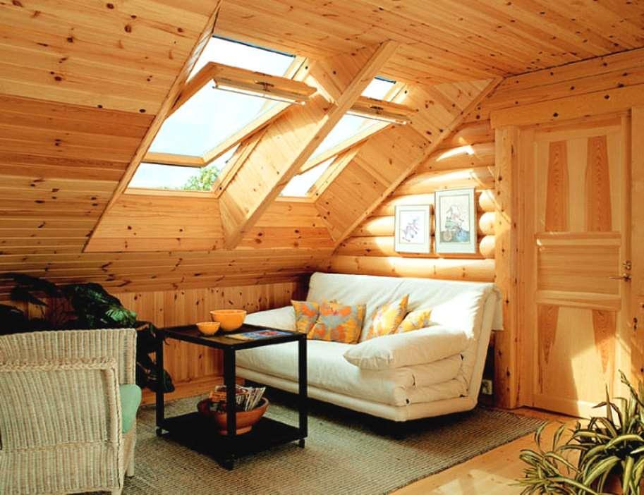 мансардный этаж в доме-бане: уютное место для отдыха
