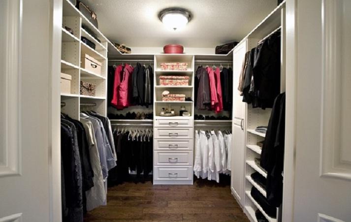 Осветительные приборы в гардеробной