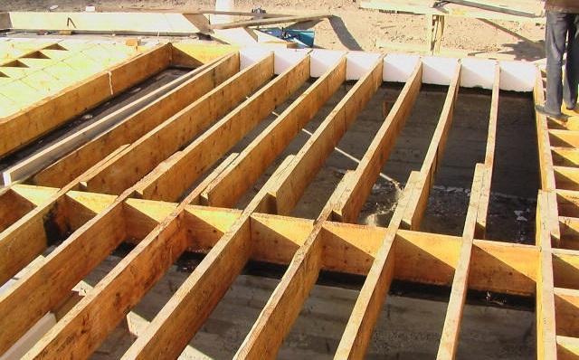 Перекрытие деревянных террас