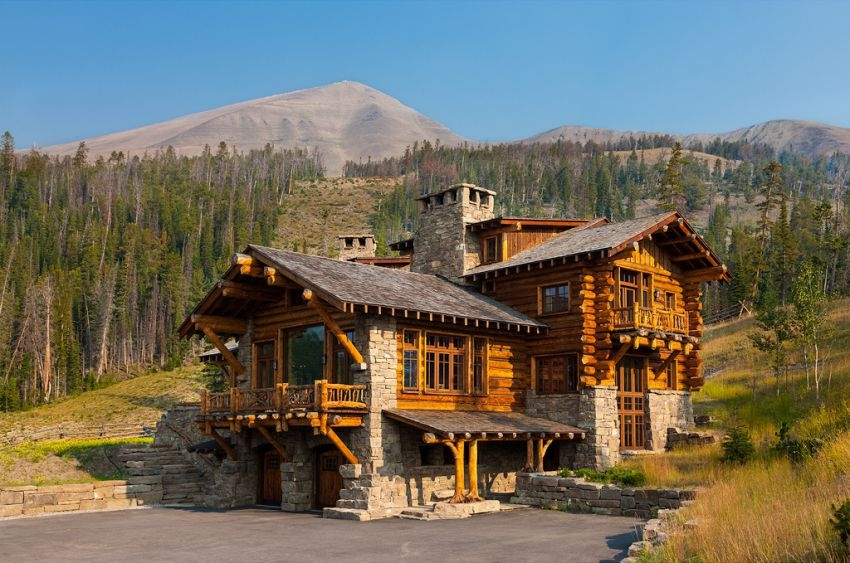 Проект американского дома из бревна