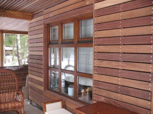 Отделка деревянного дома планкеном