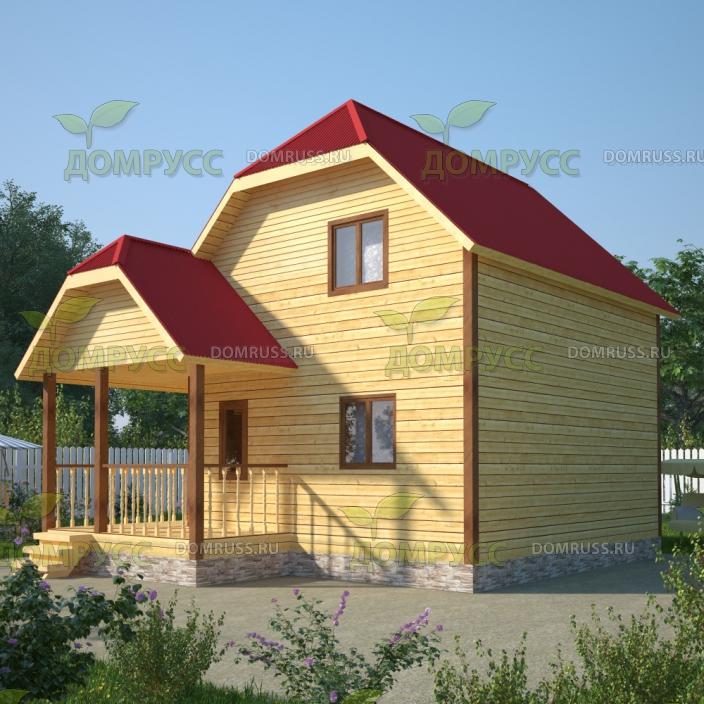проект дачного дома из бруса 6х7 с вальмовой крышей