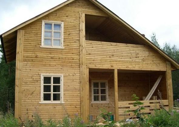 Дом с асимметричной крышей