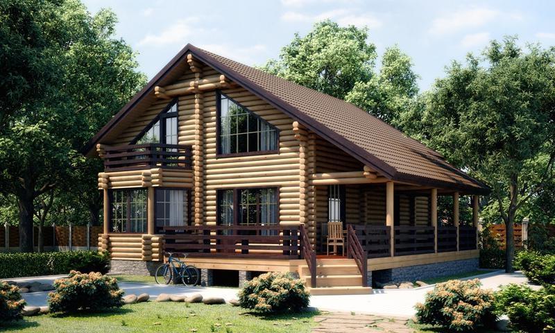 Бревенчатый скандинавский дом