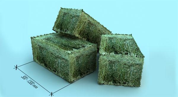 Блоки из спрессованной соломы