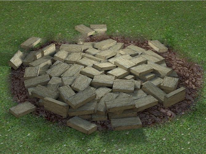 Кострище из цокольного камня