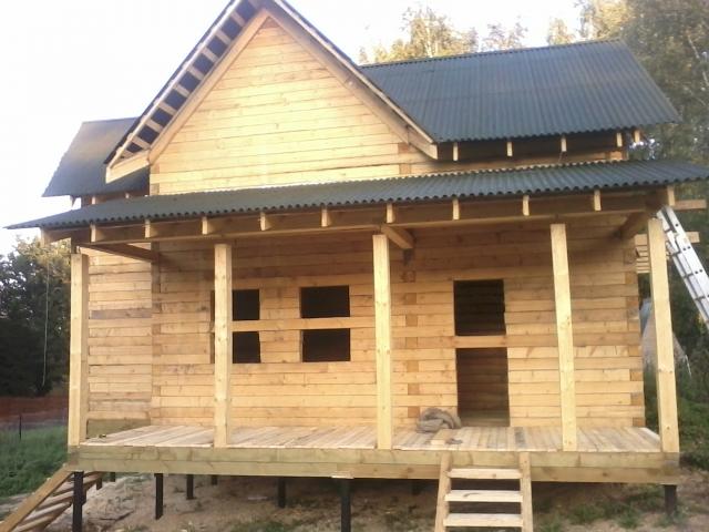Усадка дома из бруса