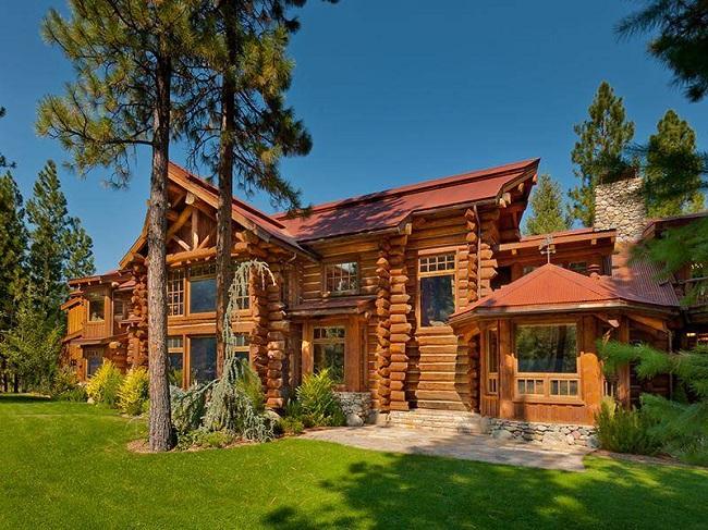 Американский бревенчатый дом