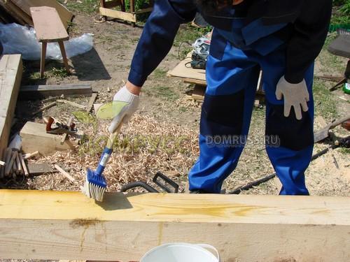 способ обработки дома из бруса