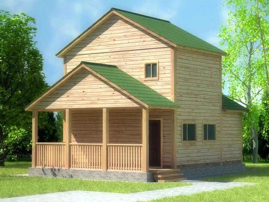 проект  двухэтажно бани