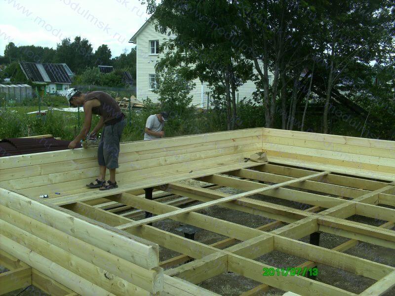начало строительство дома и бруса
