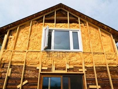 Утепление дома из клееного бруса снаружи