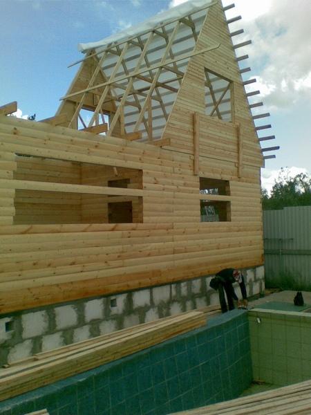 фронтон брусового дома