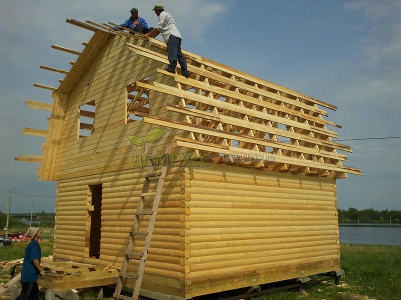 крыша дома из бруса