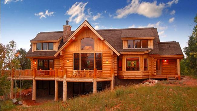 Американский дом из бревен